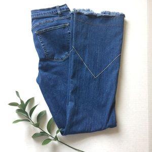 Soft Surroundings Distressed Boho Jeans